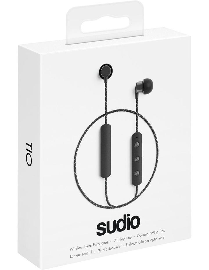 TIO Water Resistant Comfort Gym Bluetooth Headphones Black image 3