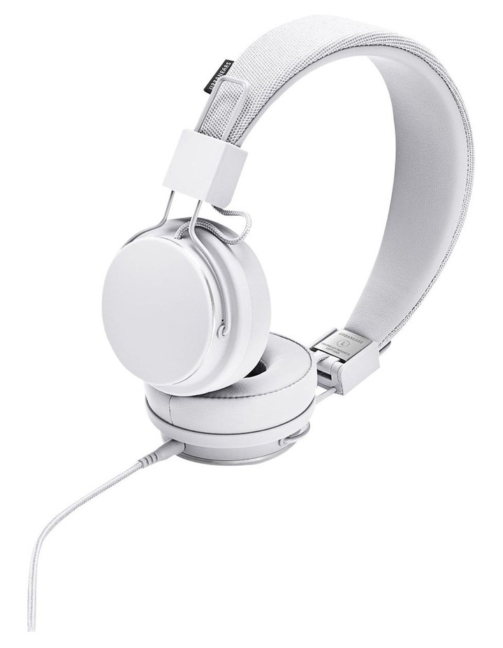 Plattan Ii Wired Over-Head Headphones With Built In Microphone For Calls - True White image 1
