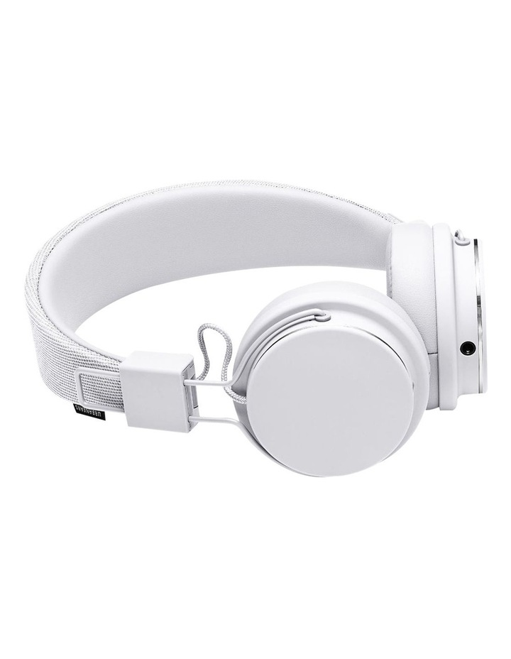 Plattan Ii Wired Over-Head Headphones With Built In Microphone For Calls - True White image 2