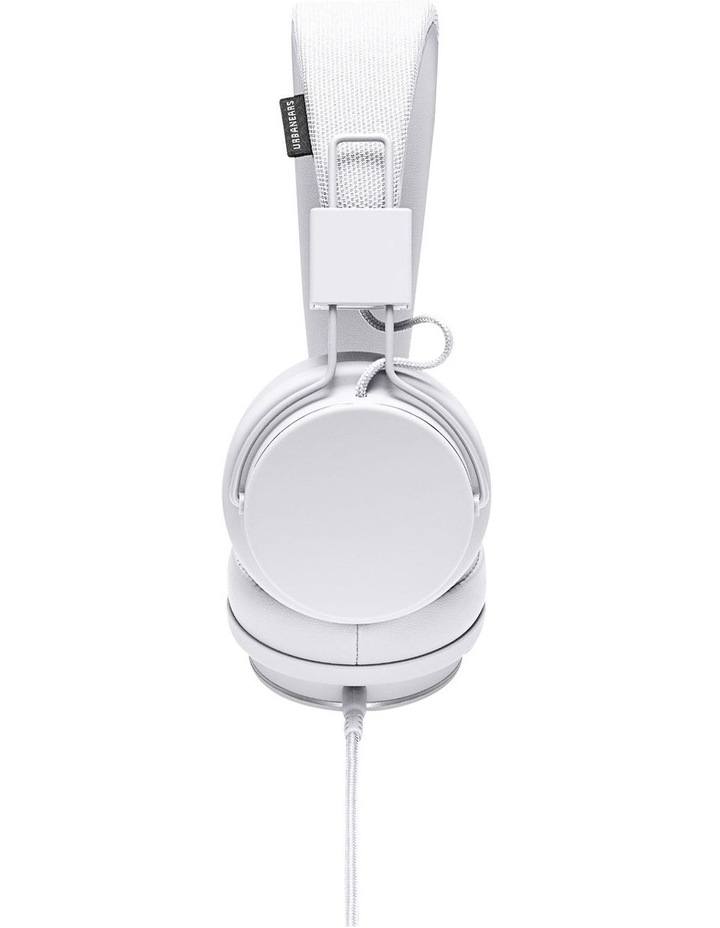Plattan Ii Wired Over-Head Headphones With Built In Microphone For Calls - True White image 3