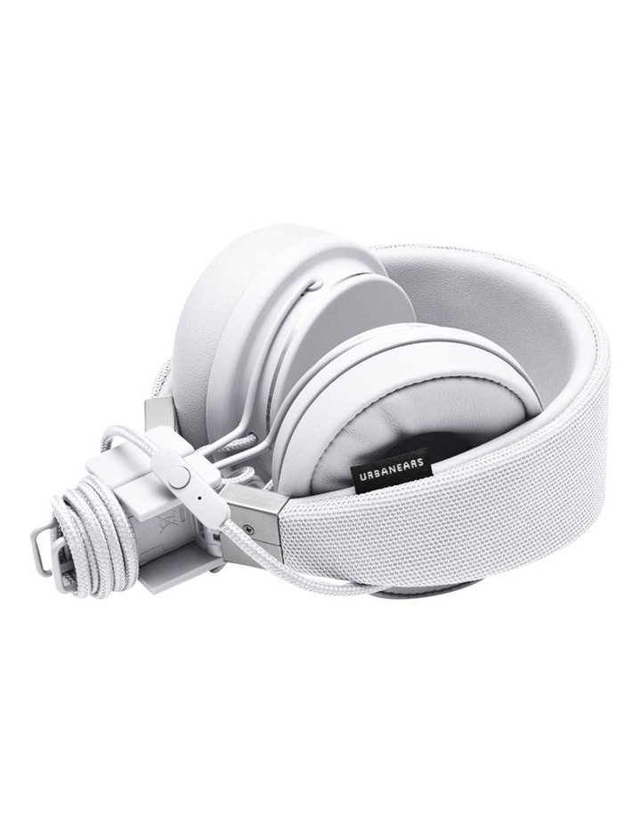 Plattan Ii Wired Over-Head Headphones With Built In Microphone For Calls - True White image 4