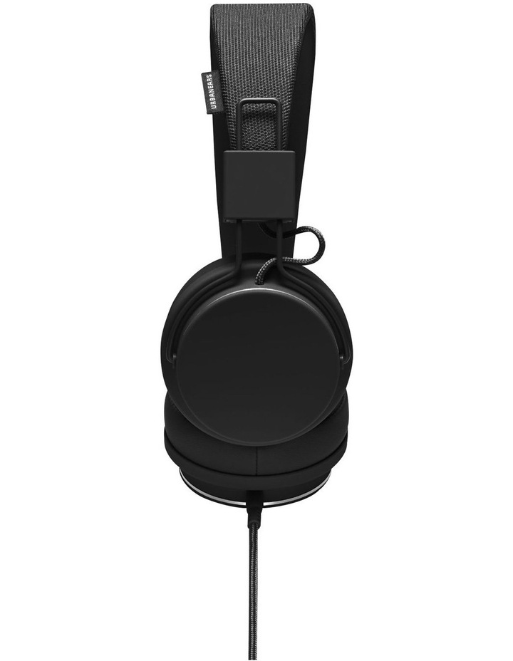 Plattan II Wired Over-Head Headphones with built in microphone for calls - Black image 2
