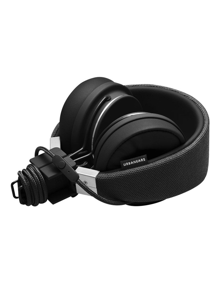Plattan II Wired Over-Head Headphones with built in microphone for calls - Black image 3