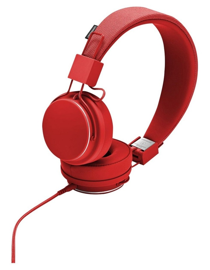 Plattan II Wired Over-Head Headphones with built in microphone for calls - Tomato image 1