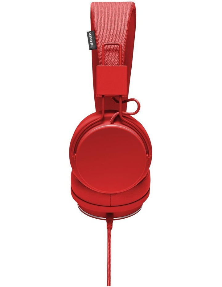 Plattan II Wired Over-Head Headphones with built in microphone for calls - Tomato image 2