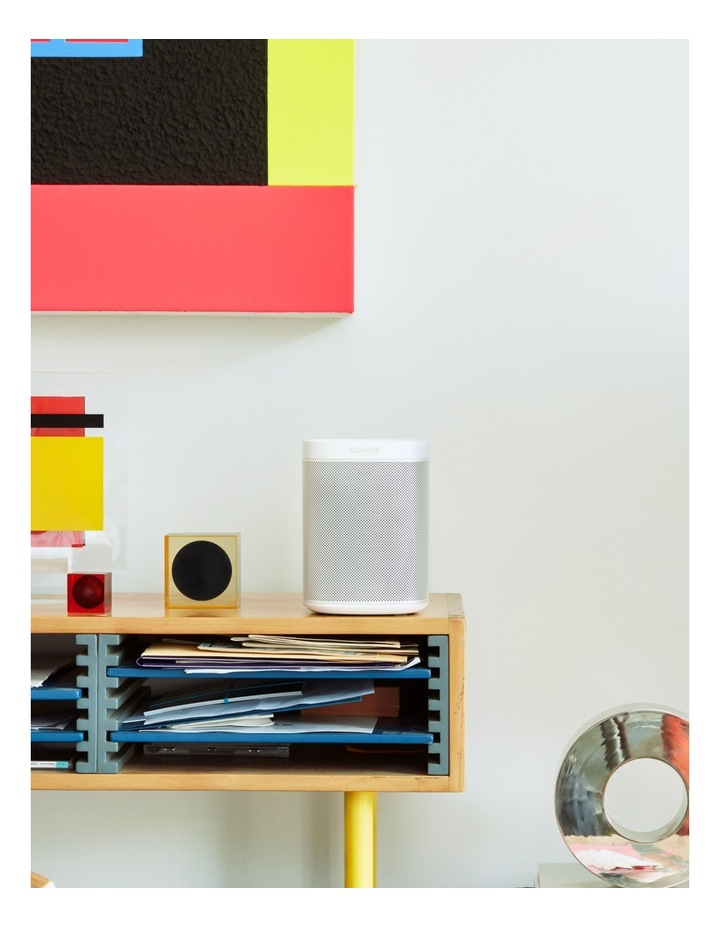 ONE Voice Controlled Smart Speaker - White image 5