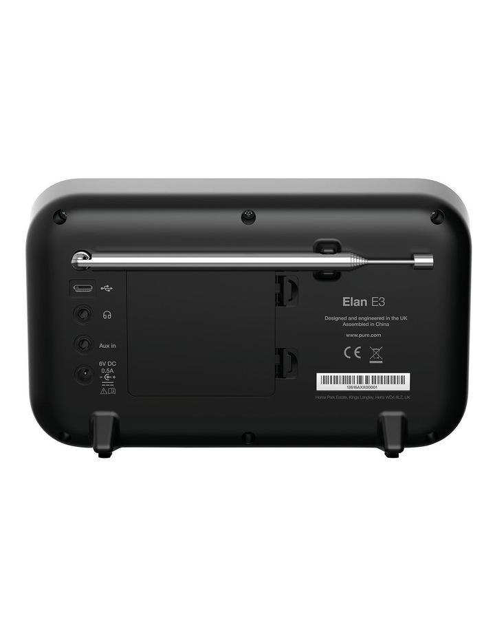 Elan E3 Portable DAB /FM Radio - Black image 3