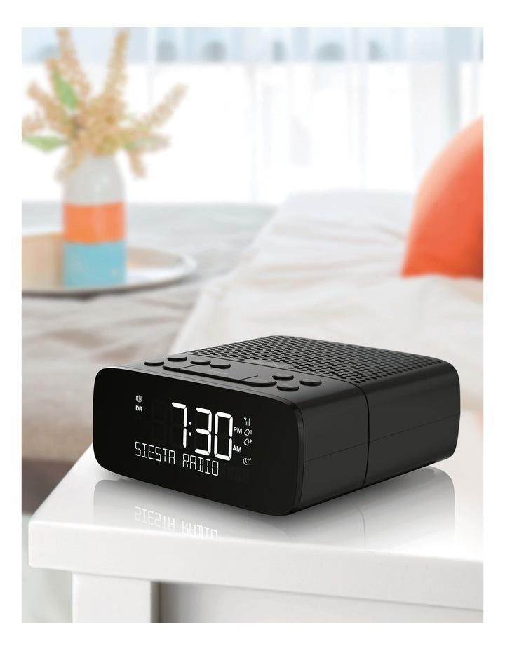 Siesta S2 Digital and FM Alarm Clock Radio with CrystalVue Display - Graphite image 6