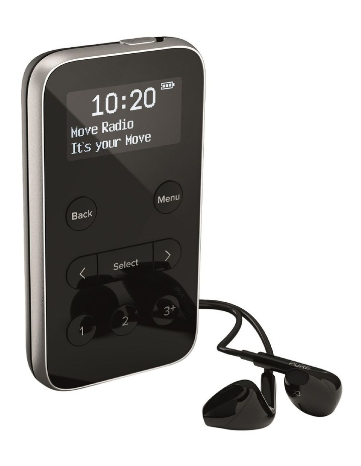 Move R3 Lightweight Rechargeable Personal Stereo DAB  / FM Radio - Black image 2