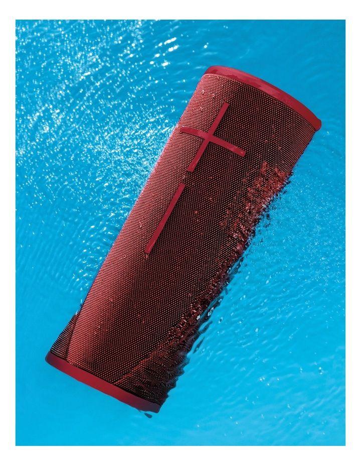Megaboom 3 Portable Bluetooth Speaker - Sunset Red image 5