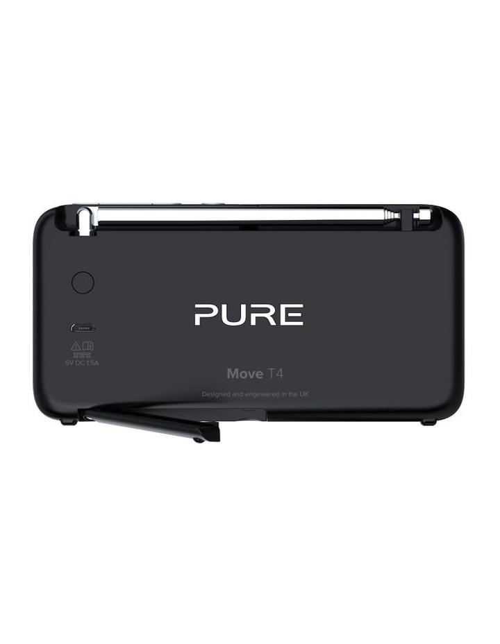 Pure Move T4 Personal DAB /FM Radio w/ Bluetooth and Built-In Speaker - Black image 4