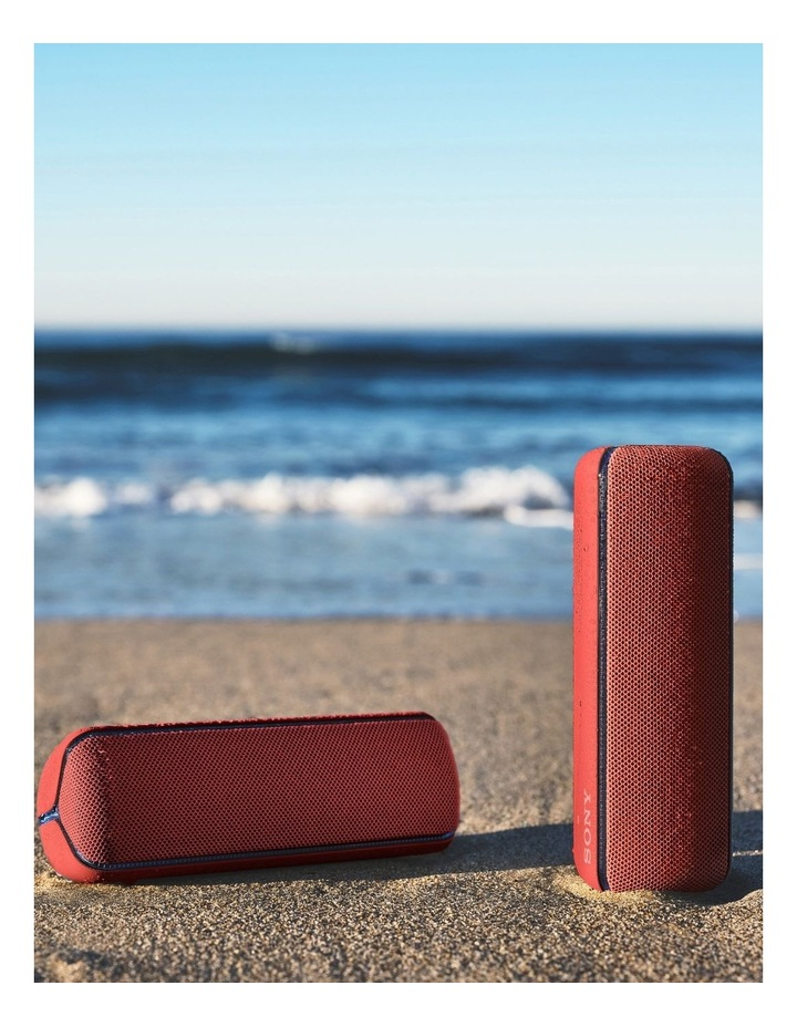 Extra Bass Portable Bluetooth Speaker Red SRSXB32R image 6