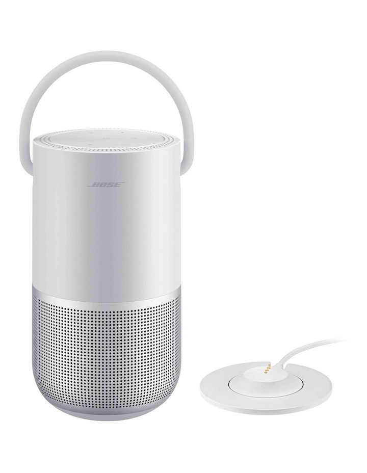 Portable Smart Speaker Charging Cradle Luxe Silver image 1