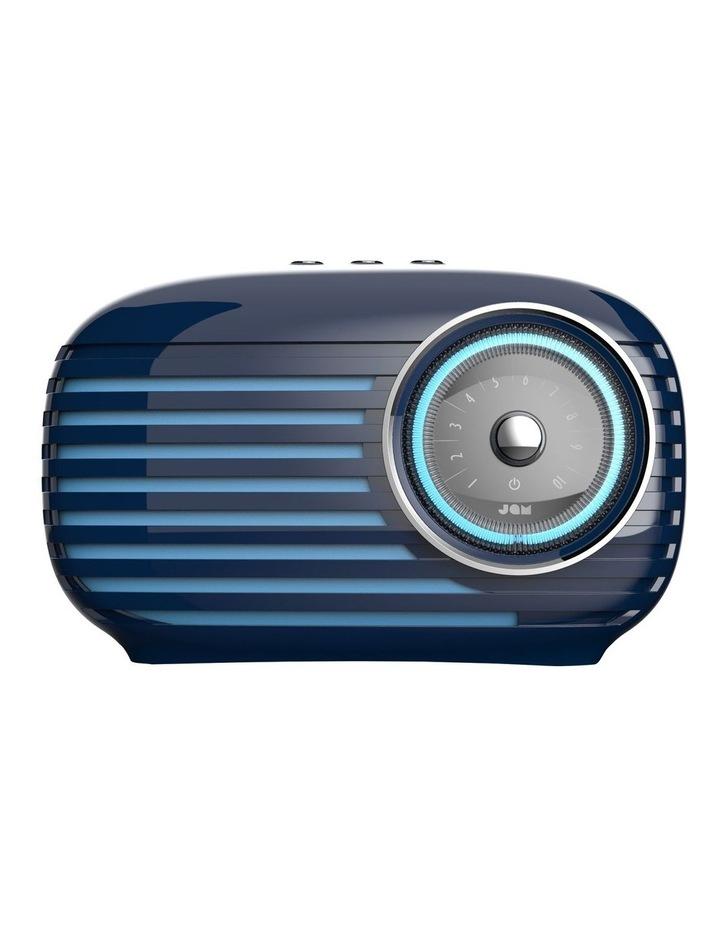Vintage Retro Bluetooth Cordless Speaker Blue image 1