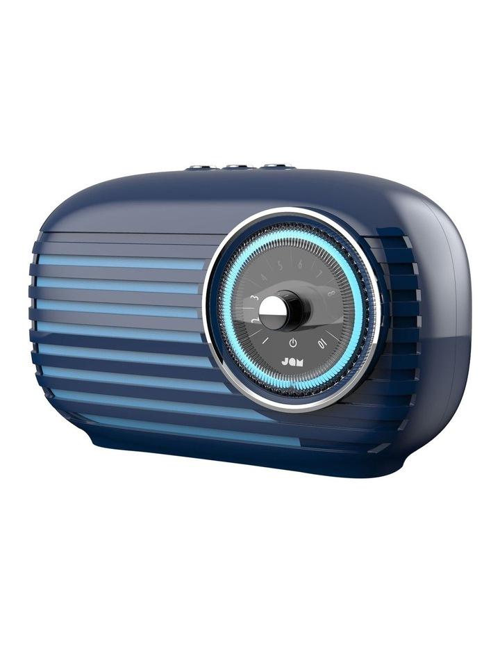 Vintage Retro Bluetooth Cordless Speaker Blue image 2