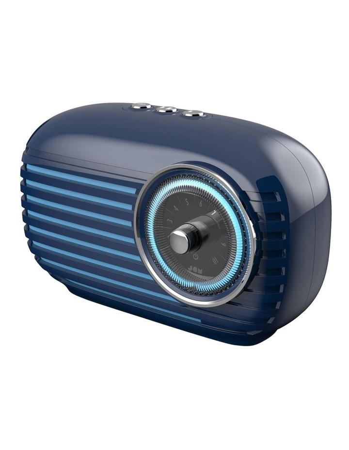 Vintage Retro Bluetooth Cordless Speaker Blue image 3