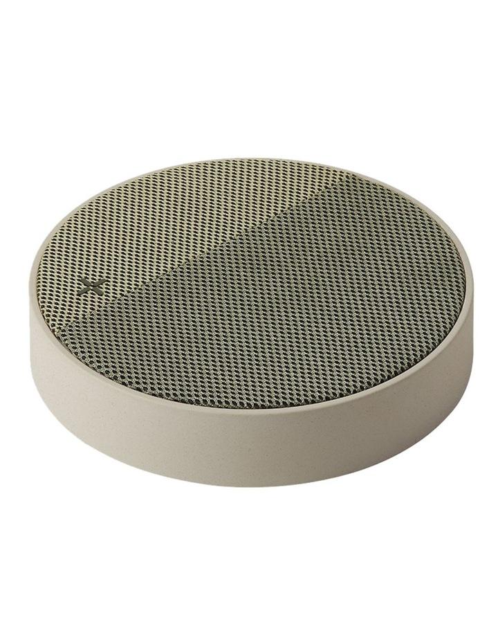Oslo Energy Wireless Charging Station & 5W Bluetooth Speaker - Stone/Khaki image 1