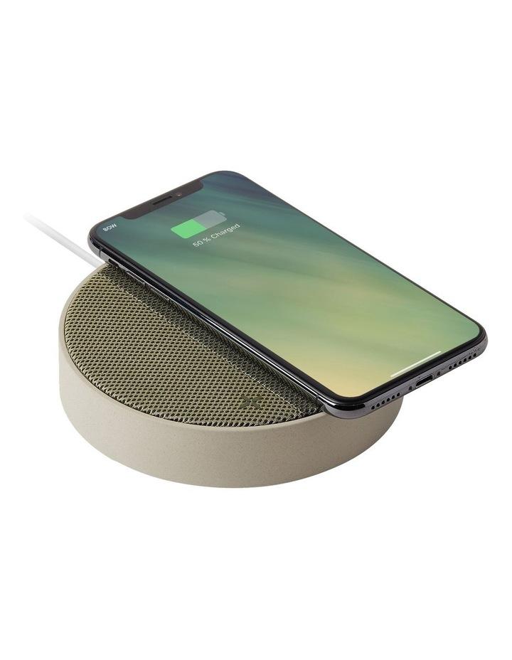 Oslo Energy Wireless Charging Station & 5W Bluetooth Speaker - Stone/Khaki image 2