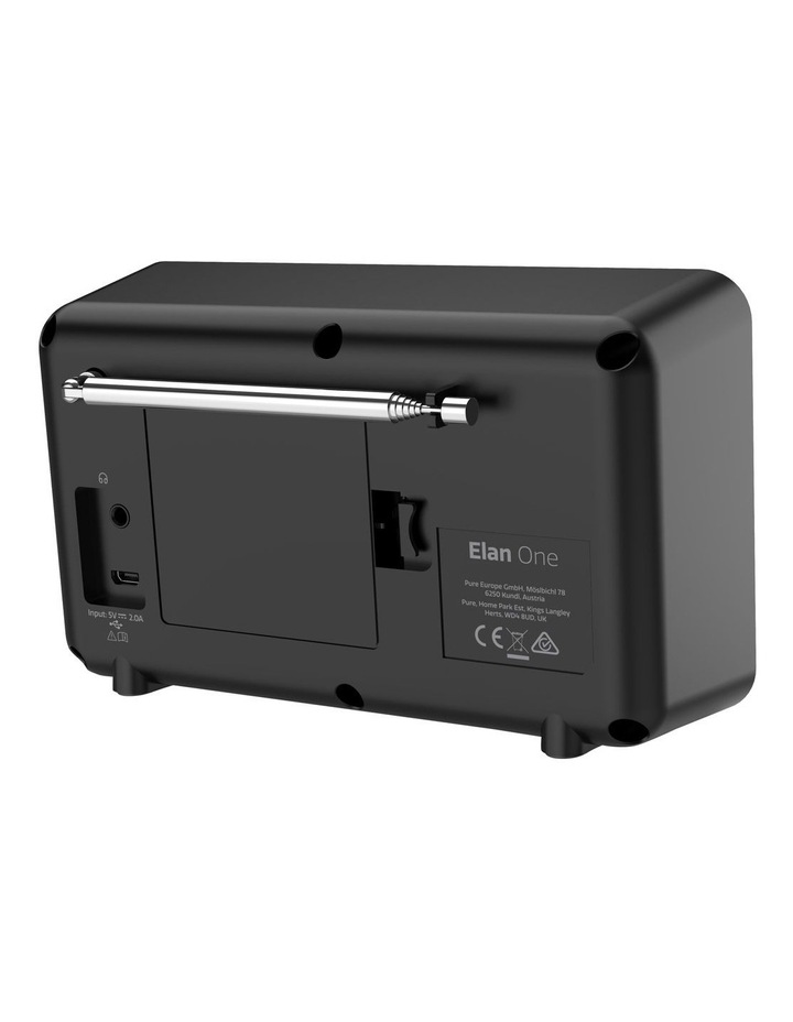 Elan One Portable DAB  Radio with Bluetooth - Black image 3