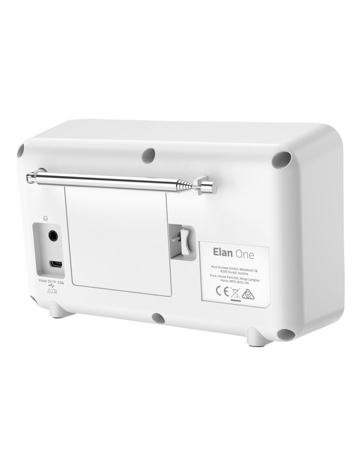 Elan One Portable DAB  Radio with Bluetooth - White image 3