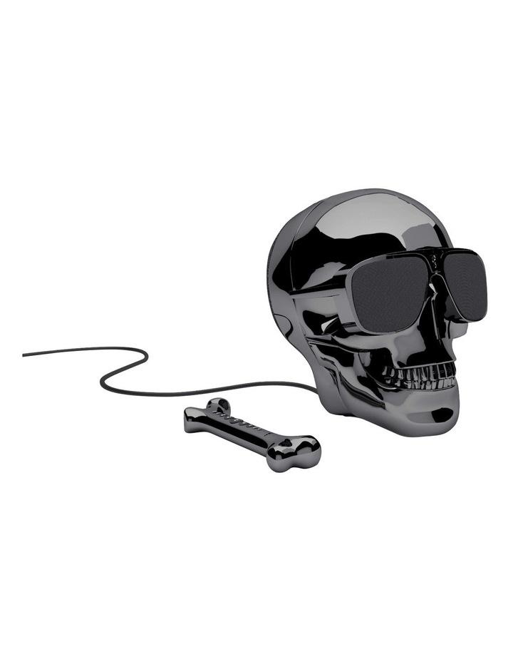 AeroSkull HD+ Portable Bluetooth Wireless Music Speaker Chrome Black ML 81021 image 1