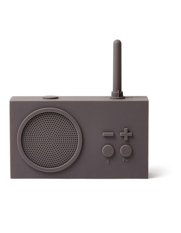 Tykho 3 Taupe Grey FM Radio 3W Bluetooth Speaker image 1