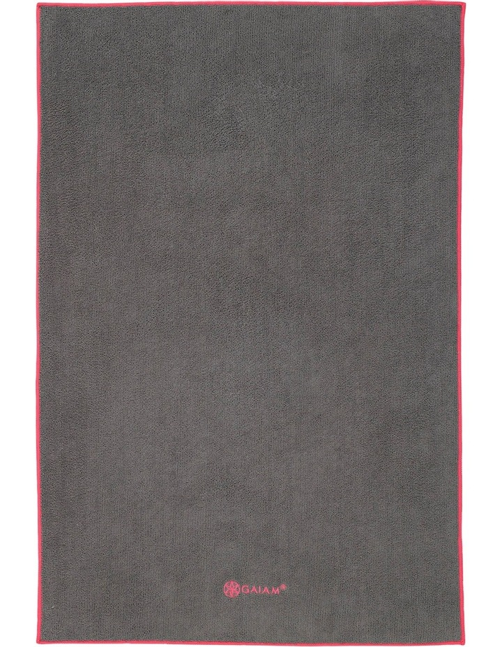 Yoga Hand Towel - Grey Fuschia image 1