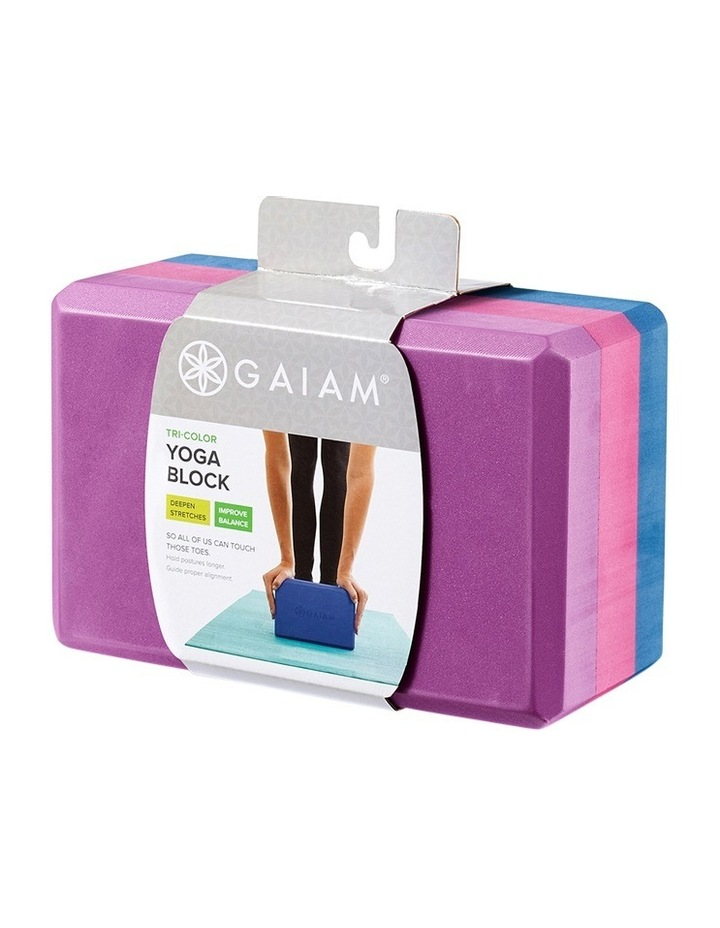 Tri Colour Yoga Block image 1
