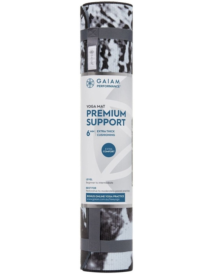 Premium Support 6mm Yoga Mat in Marble image 1