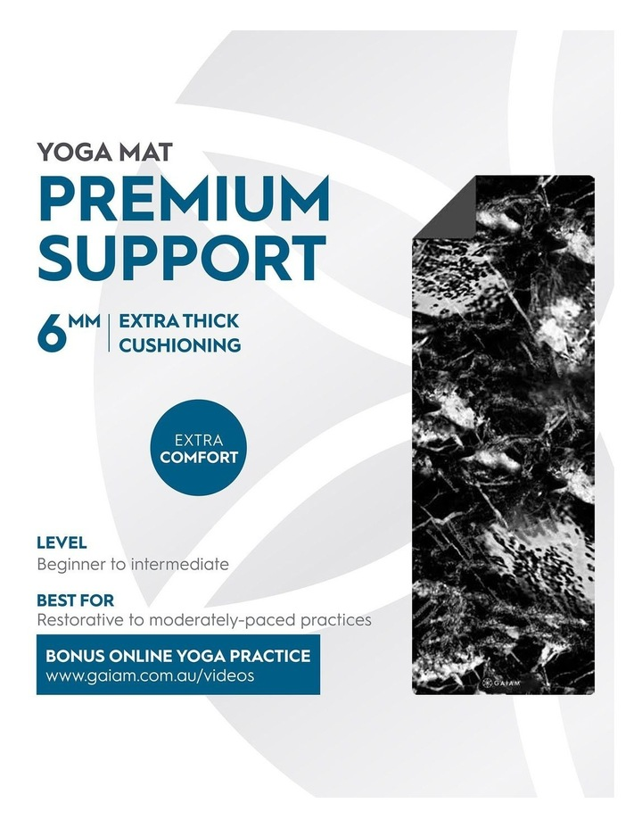 Premium Support 6mm Yoga Mat in Marble image 5