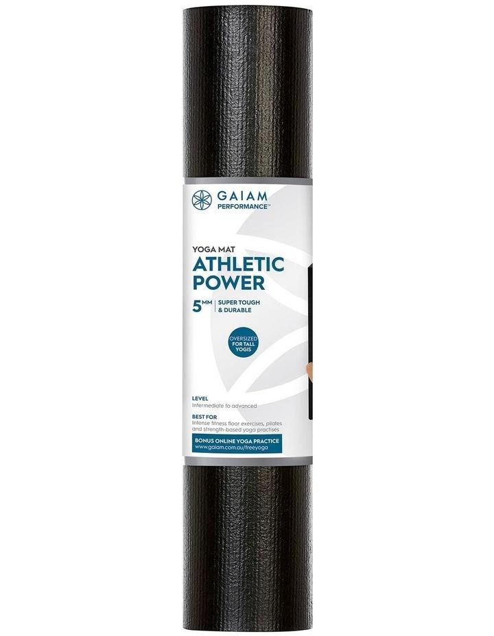 Athletic Power 5mm Yoga Mat - Black image 1