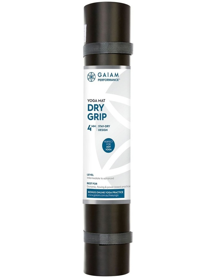 Dry Grip 4mm Yoga Mat - Black image 1