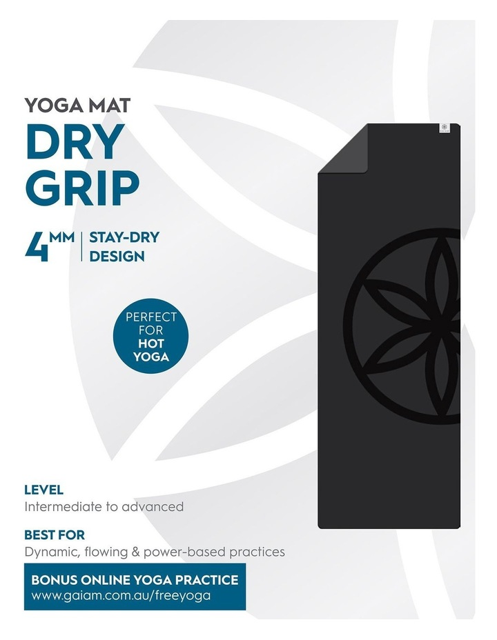 Dry Grip 4mm Yoga Mat in Black image 5