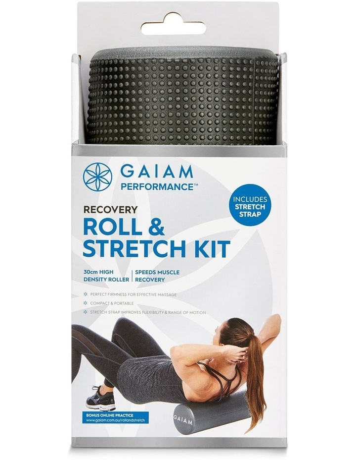 Roll & Stretch Kit 30cm Foam Roller and Stretch Strap in Grey image 3