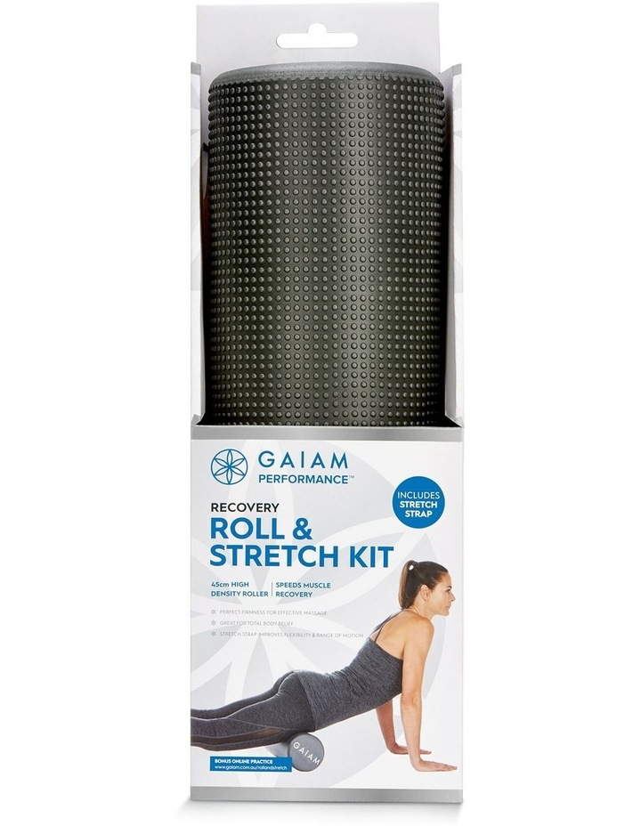 Roll & Stretch Kit 45cm Foam Roller and Stretch Strap in Grey image 3