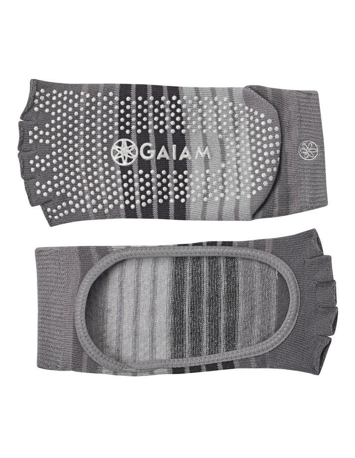 Mary Jane Yoga Socks in Grey image 2