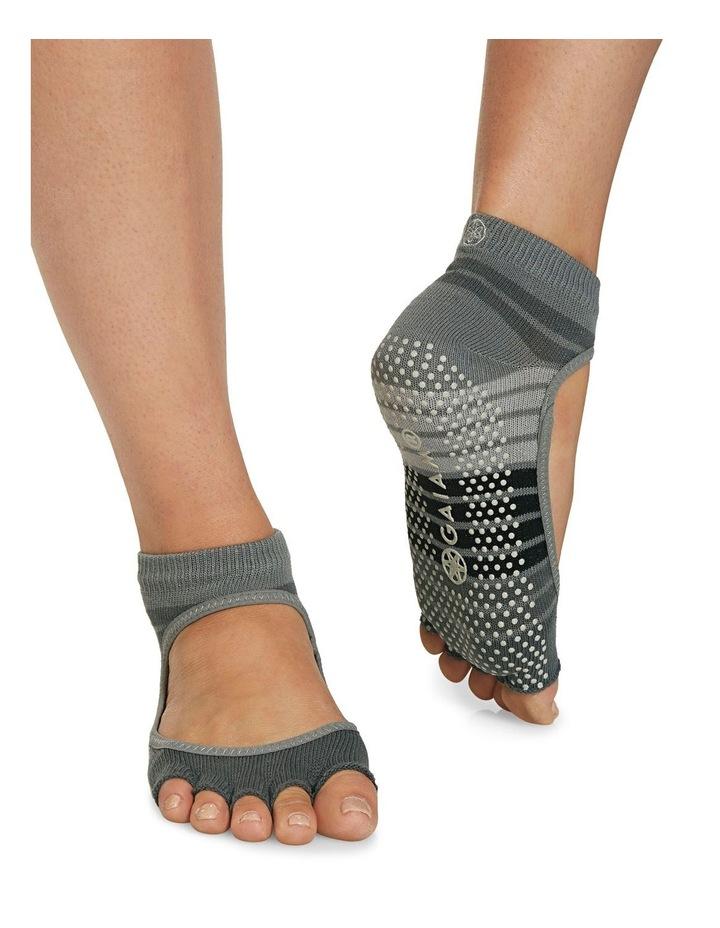 Mary Jane Yoga Socks in Grey image 4