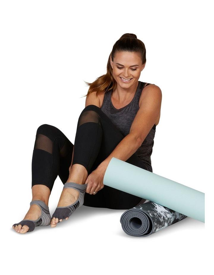 Mary Jane Yoga Socks in Grey image 5