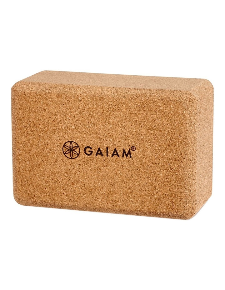 Cork Yoga Block in Tan image 2