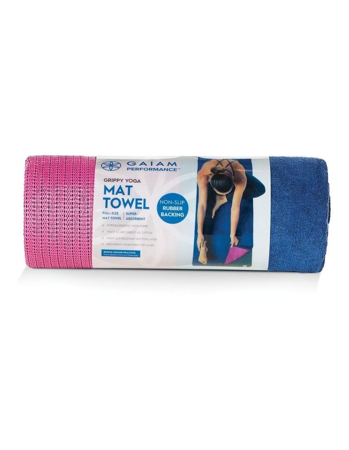 Grippy Yoga Mat Towel in Navy/Pink image 3