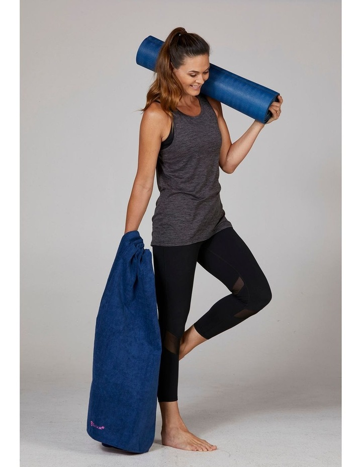 Grippy Yoga Mat Towel in Navy/Pink image 6