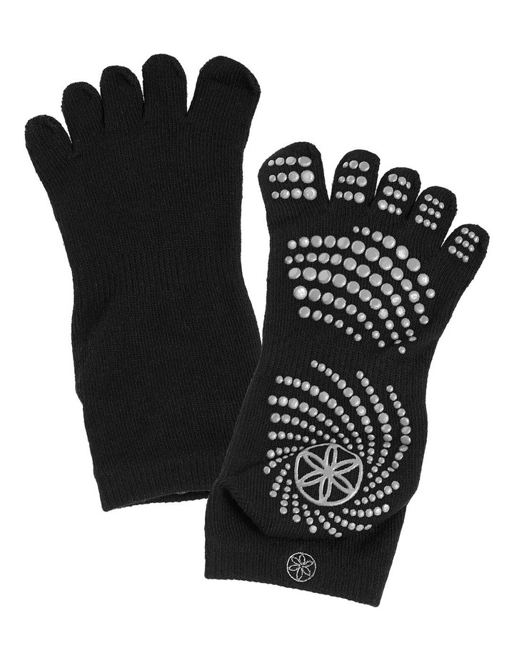 Super Grippy Yoga Socks in Black/Grey image 2