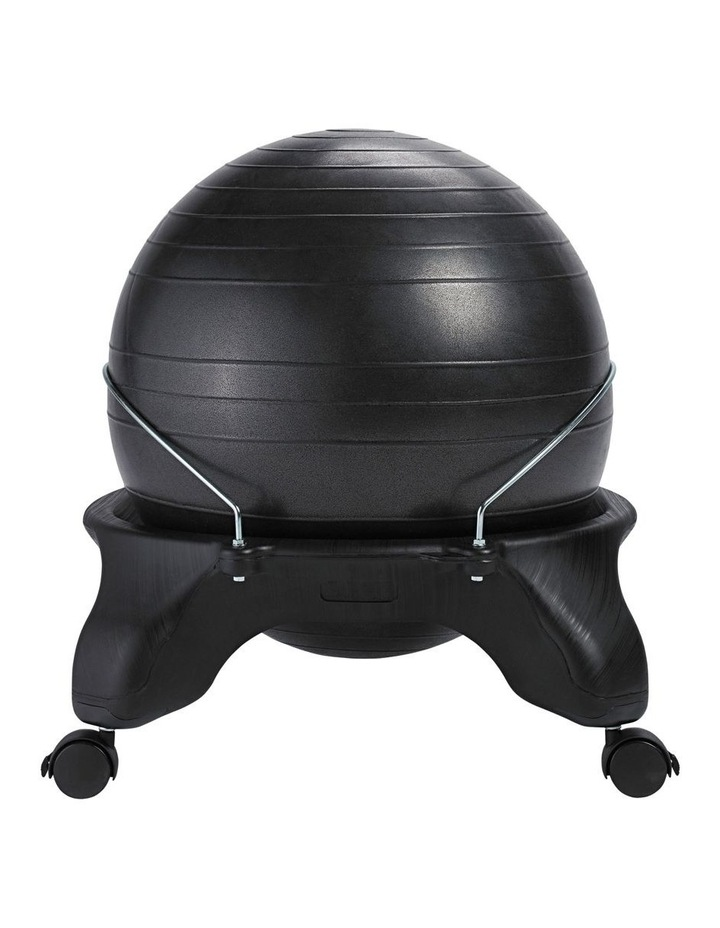 Backless Balance Ball Chair in Black image 2