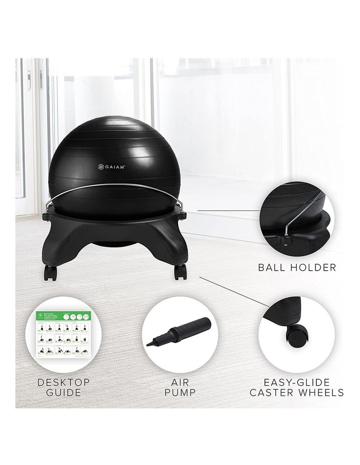 Backless Balance Ball Chair in Black image 4
