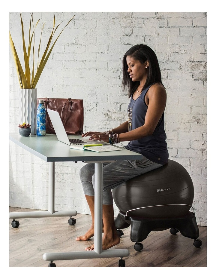 Backless Balance Ball Chair in Black image 5