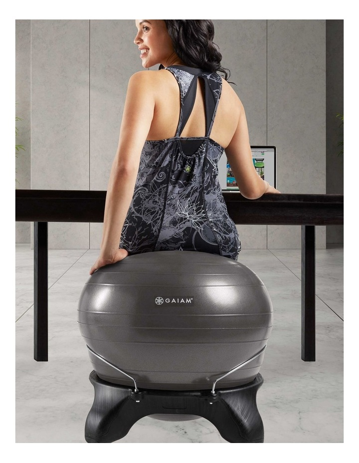 Backless Balance Ball Chair in Black image 6