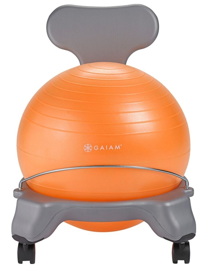 Kids Balanceball Chair Grey/Orange image 1