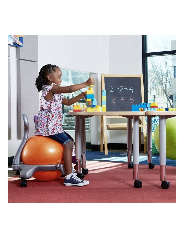 Kids Balanceball Chair Grey/Orange image 4