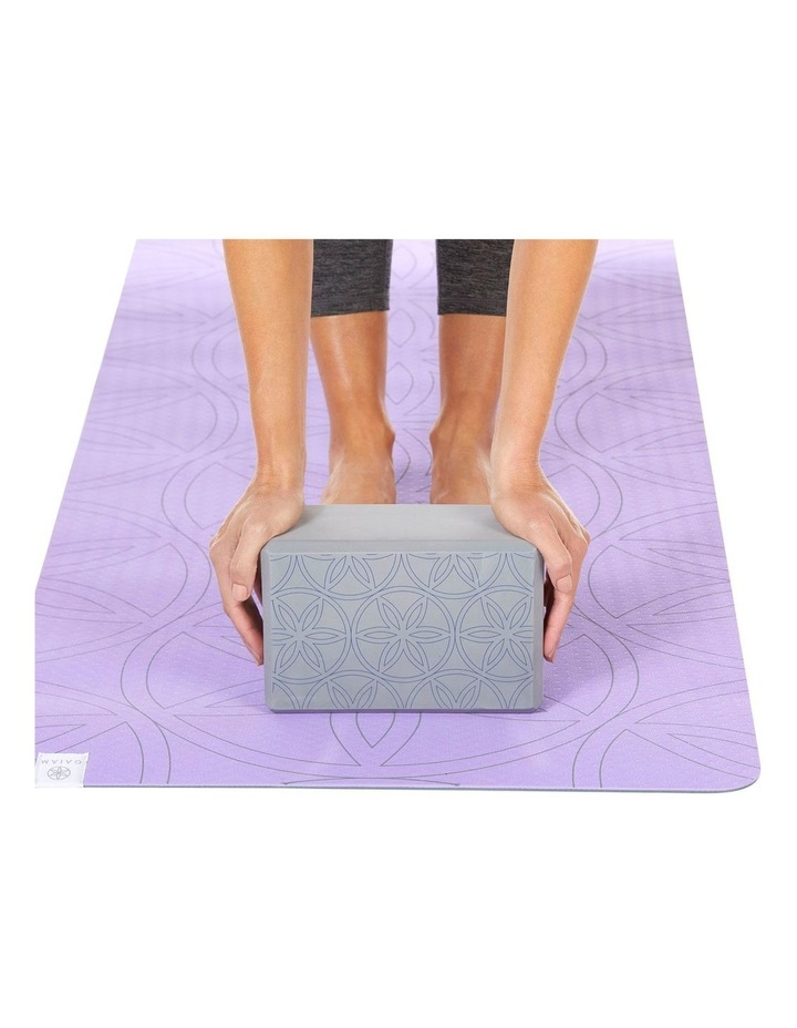 Printed Yoga Block/Strap Combo in Grey image 6