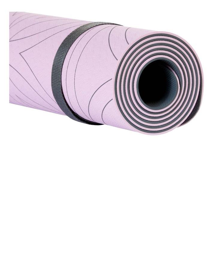 Soft Grip 5mm Printed Yoga Mat in Light Purple image 4